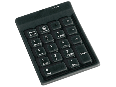 KeySonic ACK 118 BK Nummeriek toetsenbord USB
