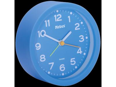 Mebus 27211 blauw kwarts wekker