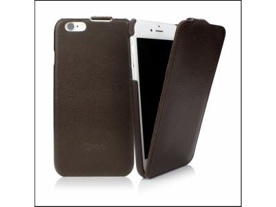 CASEual Leather Flip iPhone 6s, Italian Mocca