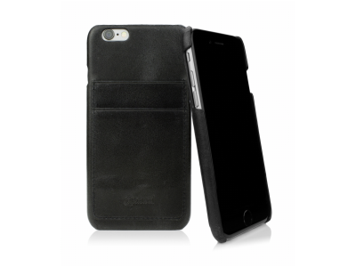CASEual Leather Back iPhone 6s, Italian Black