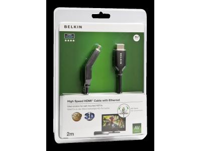 Belkin HDMI kabel 180° draaibaar 2,0 m zwart F3Y023bf2M