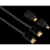 Hama High Speed HDMI kabel 1,5 m incl. mini / micro HDMI Adapter
