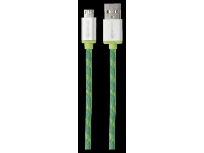 Boompods Retro Micro-USB op USB kabel 1,0 m groen