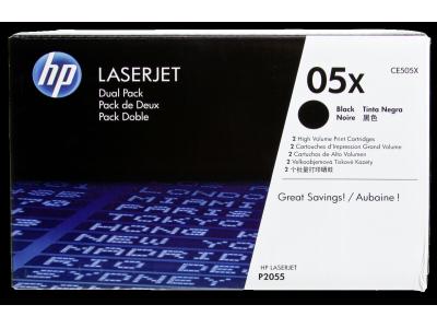 HP Toner CE 505 XD zwart Dubbelpak