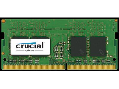 Crucial 8GB DDR4 2133 MT/s unbuf SODIMM 260pin DR x8 single ranke