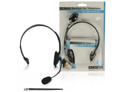 Headset met RJ9 aansluiting