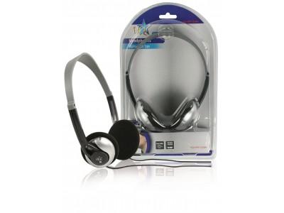 Hoofdtelefoon On-Ear 3.5 mm Bedraad 6 m Zilver