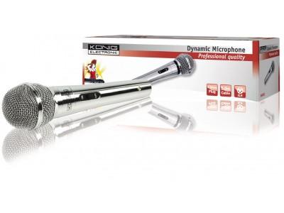 Bedrade Microfoon 6.35 mm Zilver