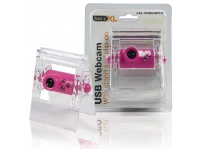 Webcam USB 0.3 MPixel SD Kunststof Roze / Transparant