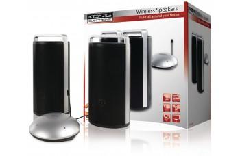 Geniet van je muziek overal in huis met deze stijlvolle draadloze speakers!
