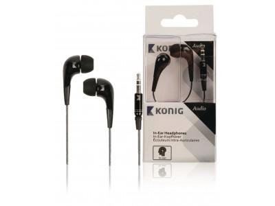 Hoofdtelefoon In-Ear 3.5 mm Bedraad Zwart