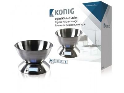 Digitale keukenweegschaal met roestvrijstalen kom