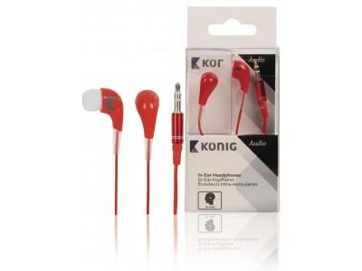 Hoofdtelefoon In-Ear 3.5 mm Bedraad Rood