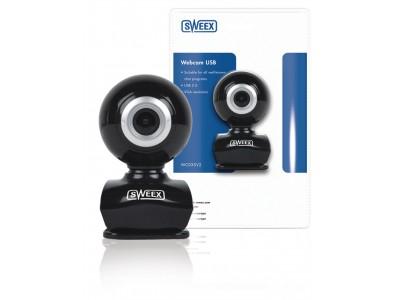 Webcam USB 0.3 MPixel SD Kunststof Zwart / Zilver