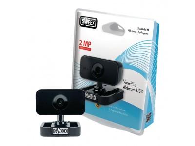 Webcam USB 2 MPixel 720P Kunststof Zwart