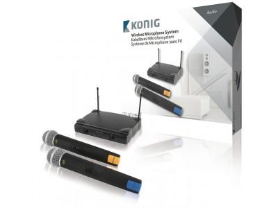 2-Kanaals Draadloze Microfoon Set 863 - 865 Mhz