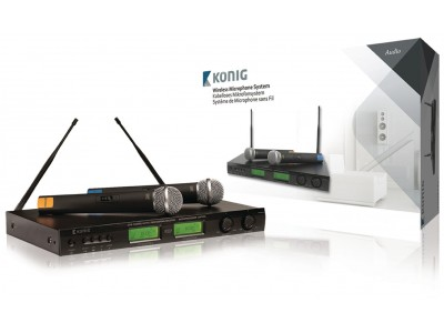 16-Kanaals Draadloze Microfoon Set 863 - 865 Mhz