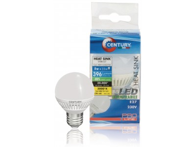 LED Lamp E27 Dimbaar Bol 5 W 396 lm 3000 K
