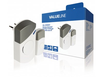 Plug-in Draadloze Deurbel Set 220V 70 dB Wit / Grijs