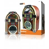 Retro jukebox met AM / FM radio en CD-speler