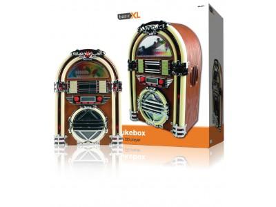 Retro jukebox met AM / FM radio en CD-speler