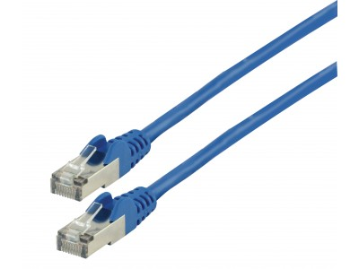 CAT6 S/FTP Netwerkkabel RJ45 (8/8) Male - RJ45 (8/8) Male 0.50 m Blauw