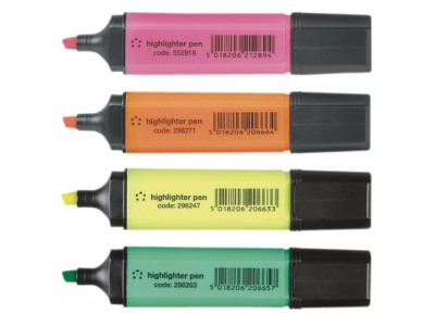 Highlighters 4 colors set (markeerstiften)