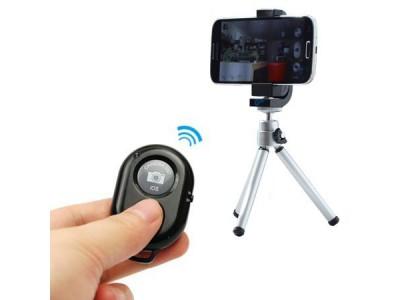 3-delig Bluetooth Selfie Remote Shutter (inclusief statief!)