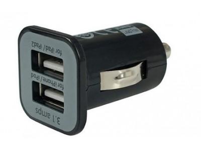2 USB aansluitingen in de auto