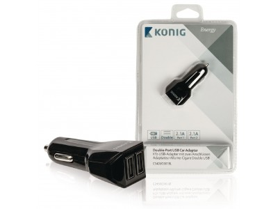 Universele USB auto lader met dubbele poort