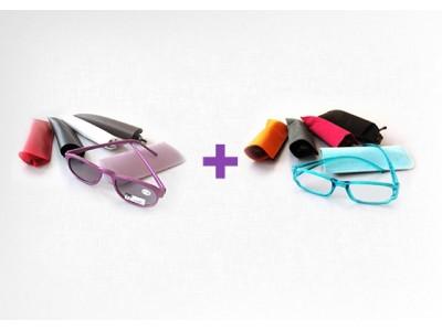 Zonnebril op sterkte + leesbril (combi)