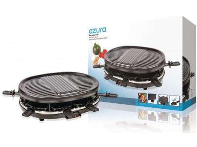 Raclette-Grill 8 Personen 900 W Zwart